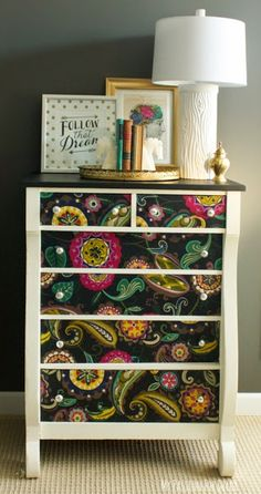 My Passion For Decor: Empire Dresser Makeover Using Fabric