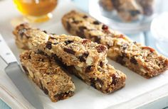 Kick-start your day with a #healthy, homemade muesli bar. We love these coconut and chia muesli bars.