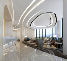 Get Award Winning Design Ideas in Seconds Corporate Interior Design, Corporate Interiors, Office Interiors, Lobby Interior, Interior Architecture, Sala Vip, Office Ceiling, Lobby Design, Hotel Lobby