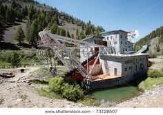 Gold Dredge near the ghost town of Custer Idaho.