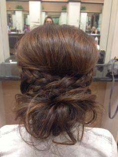 Bump, braid & messy bun...love it.