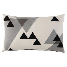 Kissen aus Baumwolle schwarz/grau 30 x 50 cm HIGHTWAY