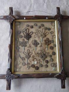 Antique-Framed-Mourning-Hair-Art-In-Black-Forest-Frame