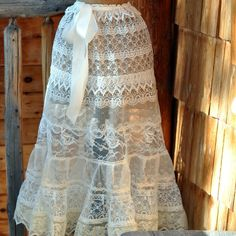 Ivory Lace Petticoat  Women's Skirt : Steampunk by LaBelleFairy