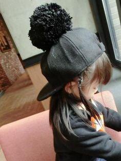 5d720597a91 COKK Kids Winter Cap Children s Hat Baseball Cap For Girls Boys Caps Pompom  Ball Hat Snapback Winter Hat Bonnet Hip Hop Black