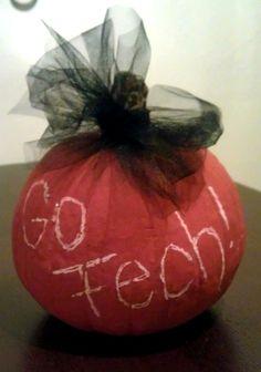 Texas Tech chalk paint pumpkin