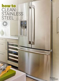 Hate stainless steel appliances... But in case i ever have to deal with them...how to clean stainless steel.