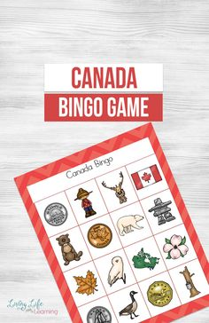 A simple way to encourage learning in a fun way. Kids will love playing Canada Bingo Game on Canada Day! Learning about Canada? Add this printable Canada bingo game to your list, your kids will love it. - Kids education and learning acts Bingo Canada, Canada Day Party, Canada For Kids, All About Canada, Fun Facts About Canada, Bingo Games For Kids, Printable Activities For Kids, Game Bingo, Preschool Printables