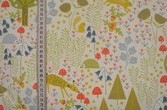 Stoff Ornamente - Baumwollstoff Wildwood - ein Designerstück von stoffe-tippel bei DaWanda