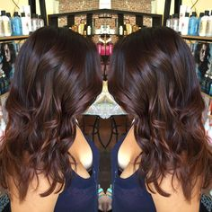"""Chocolate with red undertones #darkforsummer #newhair #ombre #chocolatehair #shinyhair #pasadena #dtla #oldtownpasadena #redhair #brunette…"""