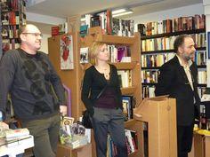 Presentación de «Dovina dovinalla» con Lina Vila, Antonio Pérez Lasheras y Chusé Raúl Usón.