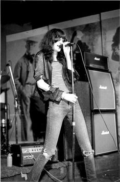Joey Ramone onstage at CBGB, 1977. Founded in 1973, Manhattan club CBGB became a crucible for the burgeoning punk rock movement,.