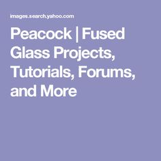 Peacock | Fused Glass Projects, Tutorials, Forums, and More