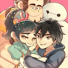 I can totally see Hiro and Vanellope being BFFs <3 So cute!!!!!!!!