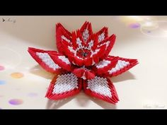 How to make 3d origami flower 4 - YouTube