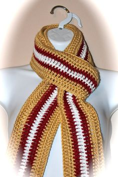 San Francisco 49ers Scarf by soronoz on Etsy, $12.50