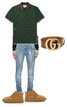 """""""Untitled #3"""" by roderickwalton on Polyvore featuring Pierre Balmain, UGG Australia, Gucci, men's fashion and menswear"""
