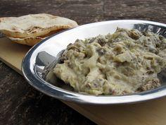 Baba ganoush - kafka na praia: Salada de beringela com tahine