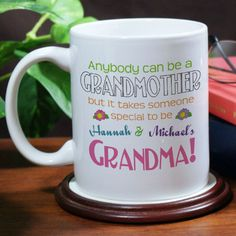 Personalized Anybody Can Be A Grandmother Personalized Coffee Mug - Gifts Happen Here