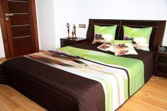 Feng Shui hnedo zelený prehoz na posteľ