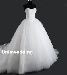 Ball gown princess lace tulle wedding dress