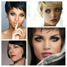 Makeup look per capelli corti