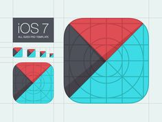 Template for iOS 7 App Icons by Denis Shoomov | M18