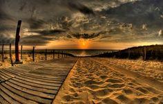 Wallpaper HD Sunset On The Beach