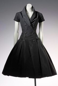 Christian Dior Zelie Cocktail dress - 1954 - Fall Winter Collection - Silk - National Gallery of Victoria, Melbourne