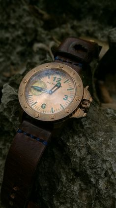 Nethuns bronze limited edition watch with ammo strap