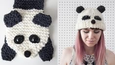 What is black and white and knitted on bamboo needles? It's Sincerely Louise's new panda collection and it's available exclusively at LoveKnitting