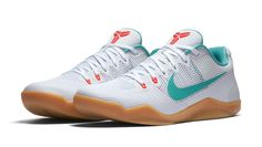 Kobe 11 EM Low 'Summer' - Nike - 836183 103 - White/Washed Teal-Bright Crimson | GOAT the most trusted sneaker marketplace