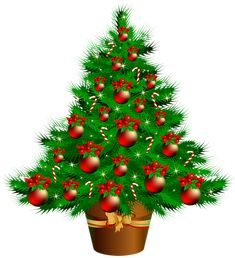 Transparent Christmas Poted Tree PNG Clipart