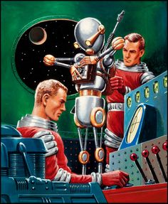 Crashing Suns, 1965 vintage mid 20th century sci-fi illustration. Description from pinterest.com. I searched for this on bing.com/images