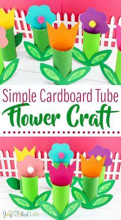 Simple Cardboard Tube Flower Craft