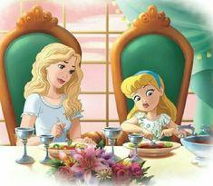 Cinderella & mother by Disney Princess Drawings, Disney Princess Art, Disney Princess Pictures, Disney Fan Art, Disney Pictures, Disney Drawings, Princess Melody, Cinderella Art, Disney And Dreamworks