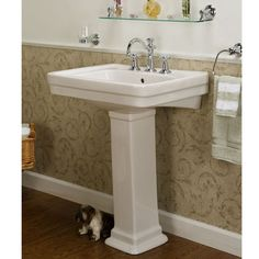 Barclay Sussex Small Pedestal Sink   Hall Bath Downstairs