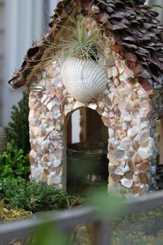 Find tips and ideas for the right garden accessories and items to make your fairy house into a home at HGTV.