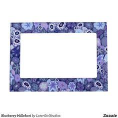 Blueberry Millefiori Magnetic Photo Frames