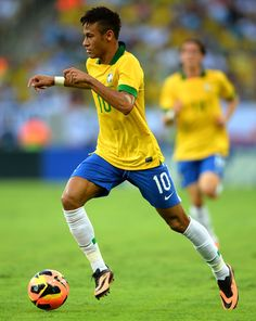 ~ Neymar on the Brazil National Team against the United States National Team wearing the Nike HyperVenom Phantom boots ~