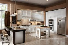 Kitchen Designs Beautiful Large Open Space Kitchen With