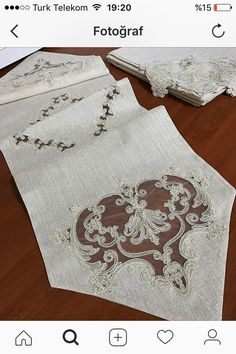 Viking Tattoo Design, Viking Tattoos, Fabric Paint Designs, Sunflower Tattoo Design, Homemade Beauty Products, Antique Lace, Foot Tattoos, Hand Stitching, Table Runners