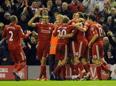 LIVERPOOL, ENGLAND - DECEMBER 30: (THE SUN OUT) Craig Bellamy of Liverpool celebrates after scoring the second during the Barclays Premier League match between Liverpool and Newcastle United at Anfield on December 30, 2011 in Liverpool, England. (Photo by John Powell/Liverpool FC via Getty Images) 2011 Liverpool FC