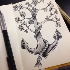 Anchor Tattoo Drawings Tumblr draw tattoo tatuagem pen