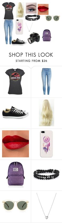 """""""Going to Jurassic Park or World"""" by ally555-498 ❤ liked on Polyvore featuring H&M, Converse, Casetify, Superdry, Karen Walker and Links of London"""
