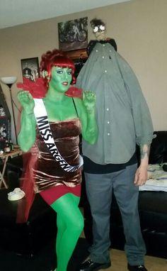 Miss Argentina and Shrunken Head costume! #beetlejuice