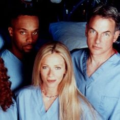 When Mark Harmon, Rocky Carroll and Lauren Holly (Gibbs, Vance and Jenny) where all on Chicago Hope