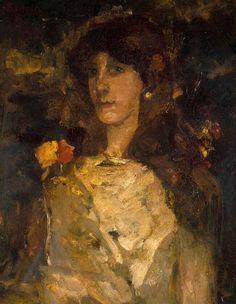 Meisjesportret (Tingeltangelmeid), George Hendrik Breitner, 1883 | Museum Boijmans Van Beuningen