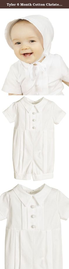 Tyler 6 Month Cotton Christening Baptism Blessing Outfit for Boys. Our popular short pleated christening outfit is simply ideal for any baby boy. The short length is perfect for warmer seasons and climates.