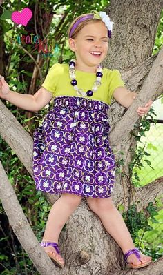 Tasha's T-Shirt Dress 2 Ways PDF Sewing Pattern by Create Kids Couture